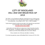 Fall Leaf Pick Up Information